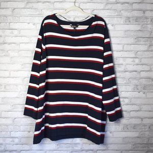 NWT Ulla Popken Multicolored Striped Knit Sweater